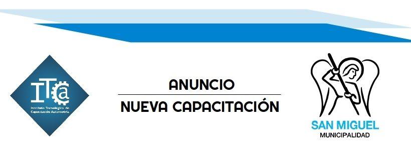 Nueva Capacitación – Municipalidad de San Miguel